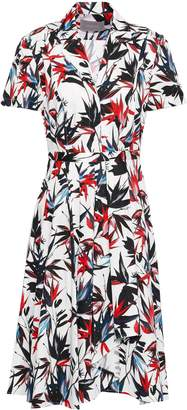 Jason Wu Pleated Floral-print Cotton-poplin Shirt Dress