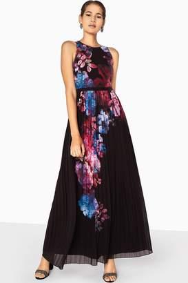 Little Mistress Aurora Placement Print Maxi Dress