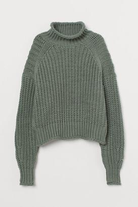 H&M Ribbed Turtleneck Sweater