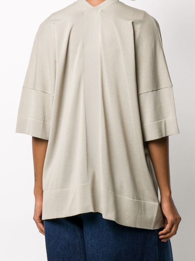Thumbnail for your product : Zucca Slouchy Half-Sleeve Cardigan