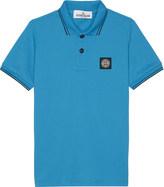 Stone Island Logo classic trim stretch-cotton polo shirt 4-14 years