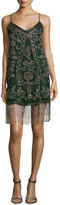 Haute Hippie Bead Embroidered Rose Tank Dress