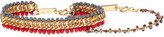 Isabel Marant Set Of Two Gold-tone Beaded Bracelets - Red