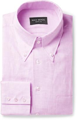 Maximilian Mogg Button-Down Collar Linen Shirt