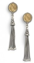 Konstantino Women's Coin Tassel Drop Earrings