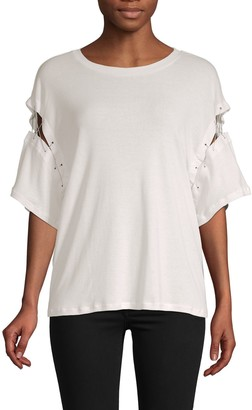 Iro . Jeans Cut-Out Cotton Top