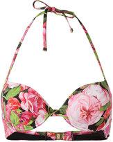 Dolce & Gabbana rose print underwired bikini top - women - Polyamide/Spandex/Elastane - 3