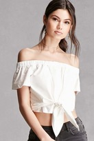 Forever 21 Lush Off-the-Shoulder Crop Top