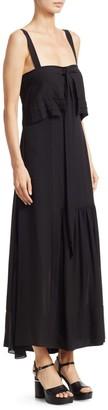 3.1 Phillip Lim Silk Tie Flare Dress
