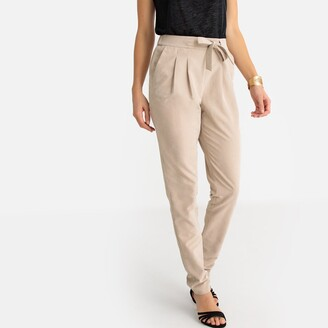 Anne Weyburn Microfibre Straight Draping Trousers, Length 30.5""