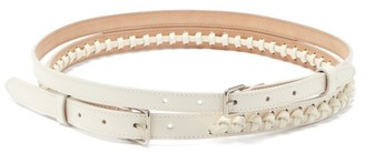 Alexander McQueen Doubled Braided Leather Belt - Ivory