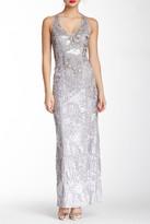 Sue Wong Halter Neck Embellished Dress