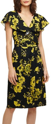 Phase Eight Heidi Floral Dress, Black/Chartreuse