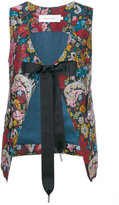 Marques Almeida Marques'almeida - floral tied waistcoat - women - Polyester/Acetate/Cupro - M