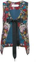 Marques Almeida Marques'almeida - floral tied waistcoat - women - Polyester/Acetate/Cupro - S