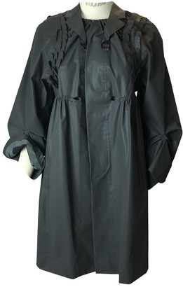 Undercover Anthracite Cotton Trench Coat for Women