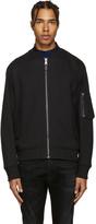 Diesel Black Gold Black Jersey Bomber Jacket