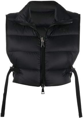 Moncler padded cropped gilet
