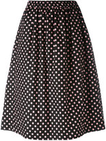 Comme des Garcons polka dot midi skirt - women - Cotton - XS
