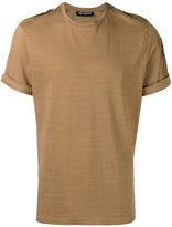 Neil Barrett star shoulder tab T-shirt - men - Cotton - XL