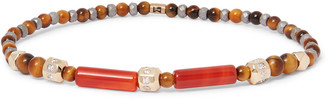 Luis Morais 14-karat Gold, Tiger's Eye And Diamond Bracelet - Brown