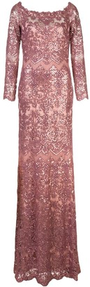 Tadashi Shoji Eve sequin embroidered gown