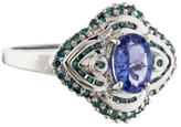 Ring Tanzanite & Blue Diamond
