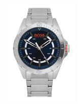 hugo boss watches jewellery for men shopstyle uk hugo boss orange blue dial stainless steel mens watch