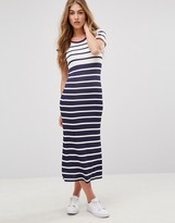 Tommy Hilfiger Stripe Midi T-shirt Dress