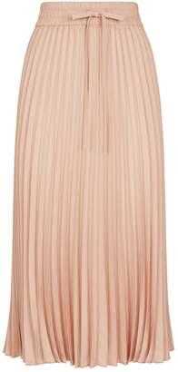 RED Valentino Pleated Pull-On Midi Skirt