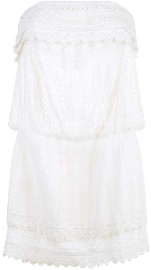 Elizabeth Hurley Crochet Bandeau Dress