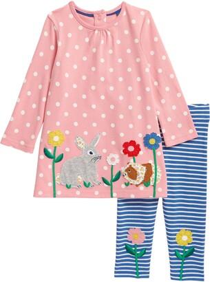 Boden Applique Jersey Dress & Leggings Set