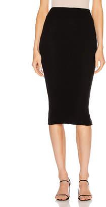 Enza Costa Sweater Knit Midi Skirt in Black   FWRD