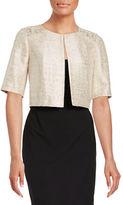 Kay Unger Cropped Tweed Jacket