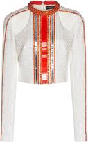 David Koma Embroidered Long Sleeve Top