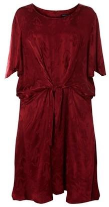 Dorothy Perkins Womens **Dp Curve Burgundy Port Jacquard Skater Dress