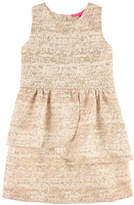Derhy Kids Jacquard knit and lurex dress with
