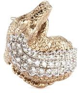 Delfina Delettrez Diamond 18k white gold crocodile ring