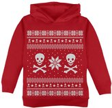 Old Glory Skull & Crossbones Ugly Christmas Sweater Toddler Hoodie