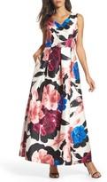 Ellen Tracy Women's Arcadia Floral Print Ballgown