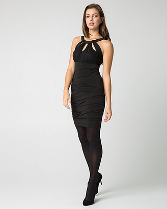 Le Château Knit Cutout Mini Dress