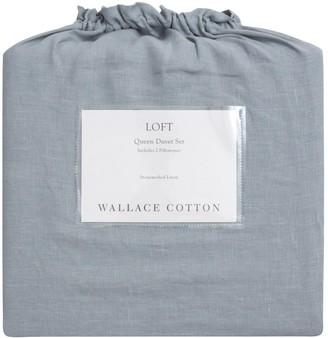 Wallace Cotton Loft Stonewashed Linen Duvet Set Superking