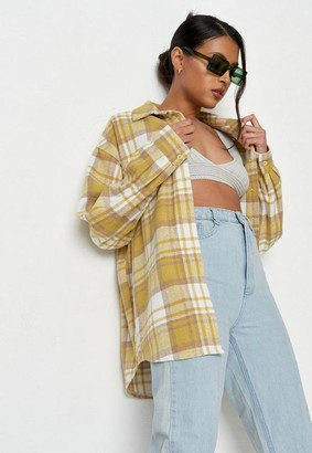 Missguided Brushed Check Relaxed Utility Shirt