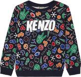 Kenzo Symbol print cotton jumper 4-16 years