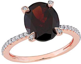 Rina Limor Fine Jewelry 10K Rose Gold 3.10 Ct. Tw. Diamond & Garnet Ring
