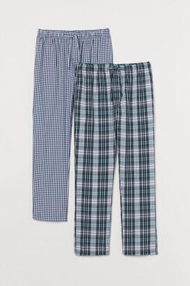 H&M 2-Pack Cotton Pyjama Bottoms