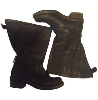 Haider Ackermann Black Leather Boots