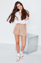 KENDALL + KYLIE Kendall & Kylie Lurex Pleated Shorts