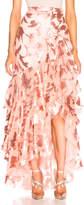 Rodarte Sequin & Tulle Ruffled Skirt with Bow Detail