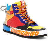 Moschino Colorblocked Leather High-Top Sneaker